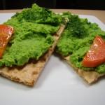 Humus z zielonego groszku… mniam…